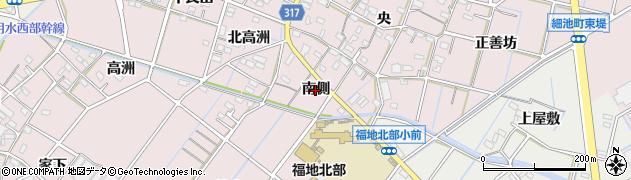 愛知県西尾市細池町(南側)周辺の地図