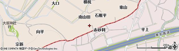 愛知県豊川市金沢町(石雁平)周辺の地図