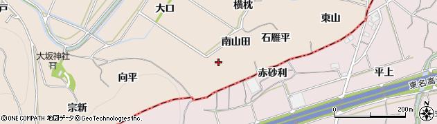愛知県豊川市金沢町(南山田)周辺の地図