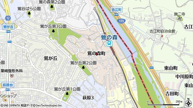 〒666-0001 兵庫県川西市鴬の森町の地図