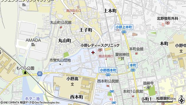 〒675-1375 兵庫県小野市西本町の地図