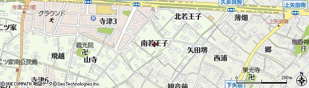 愛知県西尾市寺津町(南若王子)周辺の地図
