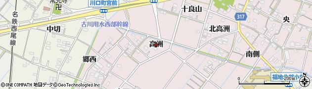 愛知県西尾市細池町(高洲)周辺の地図