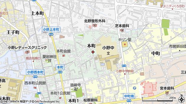 〒675-1372 兵庫県小野市本町(その他)の地図
