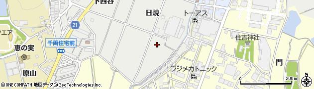 愛知県豊川市千両町(日焼)周辺の地図
