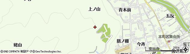 愛知県豊川市御油町(上ノ山)周辺の地図