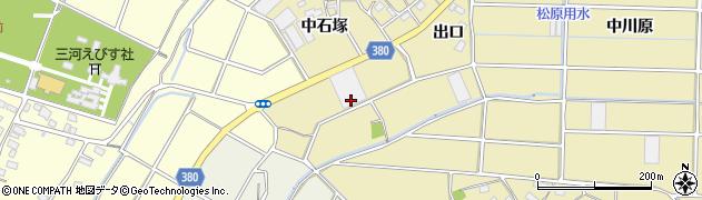 愛知県豊川市豊津町(広畑)周辺の地図