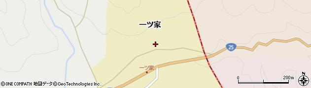 三重県伊賀市一ツ家周辺の地図