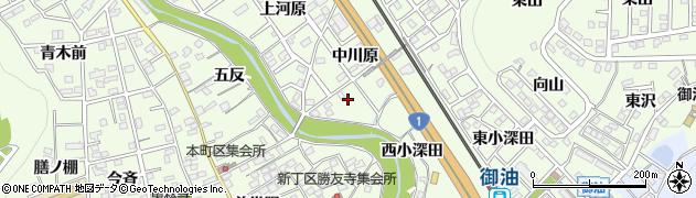 愛知県豊川市御油町(中川原)周辺の地図
