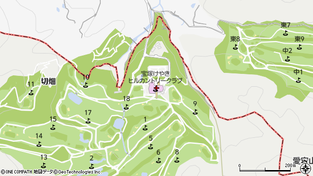 〒666-0161 兵庫県宝塚市切畑(長尾山19-14)の地図