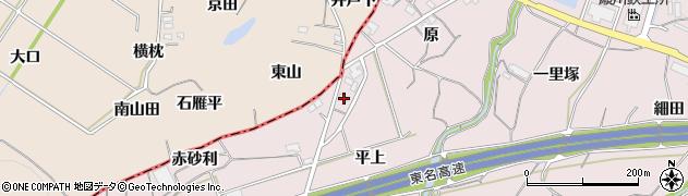 愛知県豊橋市石巻西川町(平上)周辺の地図