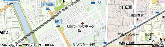 大阪府高槻市明田町周辺の地図