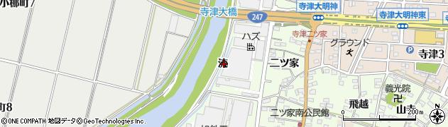 愛知県西尾市寺津町(流)周辺の地図