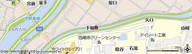 愛知県西尾市花蔵寺町(下堀田)周辺の地図