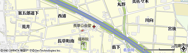 愛知県豊川市長草町(連田)周辺の地図
