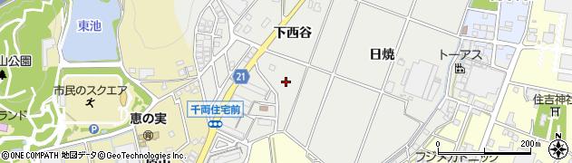 愛知県豊川市千両町(下西谷)周辺の地図