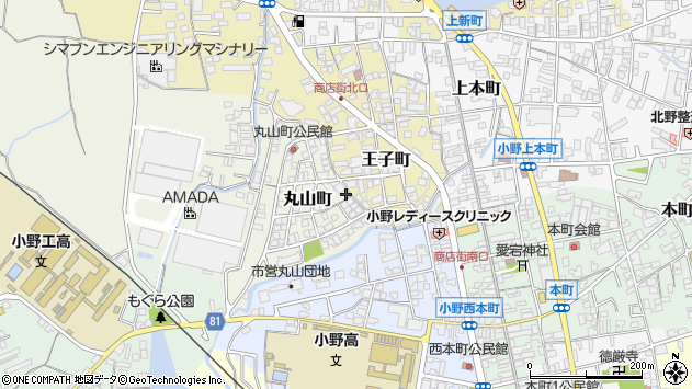 〒675-1376 兵庫県小野市丸山町の地図