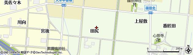 愛知県豊川市篠田町(仲田)周辺の地図