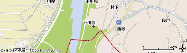 愛知県豊川市金沢町(下川原)周辺の地図