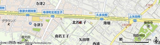 愛知県西尾市寺津町(北若王子)周辺の地図