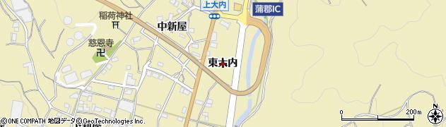 愛知県蒲郡市清田町(東大内)周辺の地図