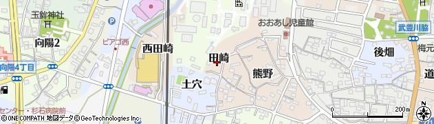 愛知県武豊町(知多郡)田崎周辺の地図