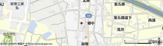 愛知県豊川市六角町(郷中)周辺の地図