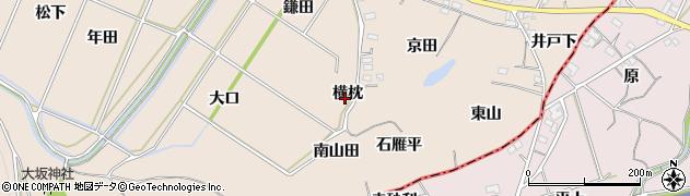 愛知県豊川市金沢町(横枕)周辺の地図