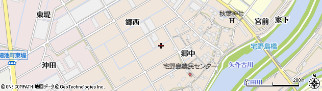 愛知県西尾市宅野島町周辺の地図