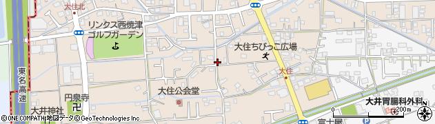 静岡県焼津市大住周辺の地図