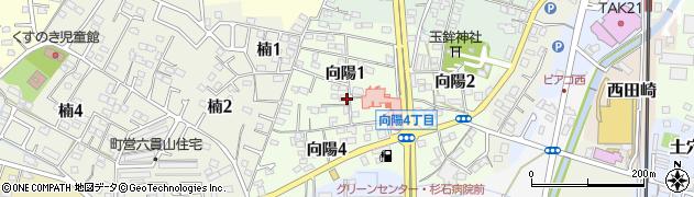 愛知県武豊町(知多郡)向陽周辺の地図