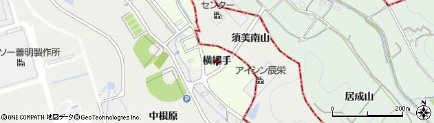 愛知県西尾市室町(横縄手)周辺の地図