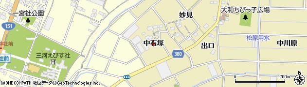 愛知県豊川市豊津町(中石塚)周辺の地図