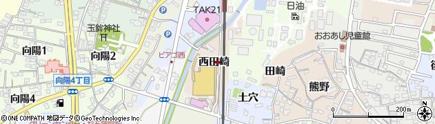 愛知県武豊町(知多郡)西田崎周辺の地図