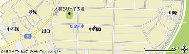 愛知県豊川市豊津町(中川原)周辺の地図