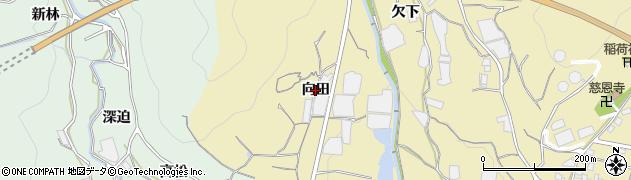 愛知県蒲郡市清田町(向田)周辺の地図