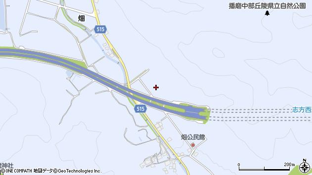 〒675-0341 兵庫県加古川市志方町畑の地図
