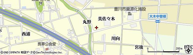 愛知県豊川市長草町(荒田)周辺の地図