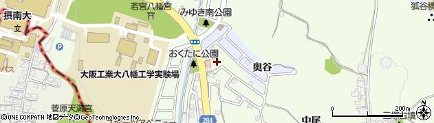 京都府八幡市美濃山周辺の地図
