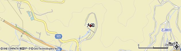 愛知県蒲郡市柏原町(大迫)周辺の地図