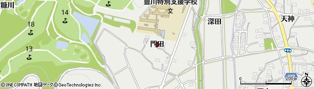 愛知県豊川市平尾町(門田)周辺の地図