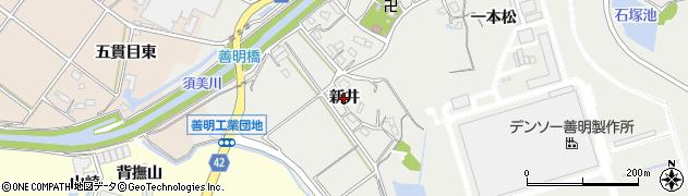 愛知県西尾市善明町(新井)周辺の地図