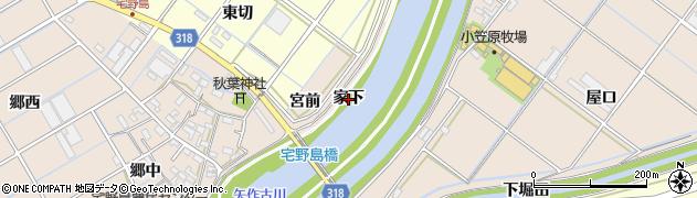 愛知県西尾市宅野島町(家下)周辺の地図