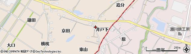 愛知県豊川市金沢町(井戸下)周辺の地図
