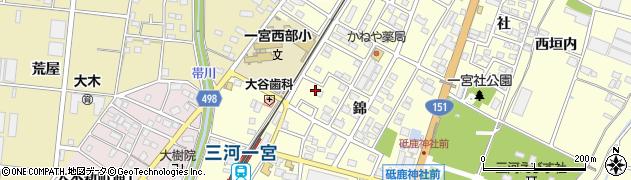 愛知県豊川市一宮町(錦)周辺の地図