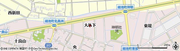 愛知県西尾市細池町(大圦下)周辺の地図