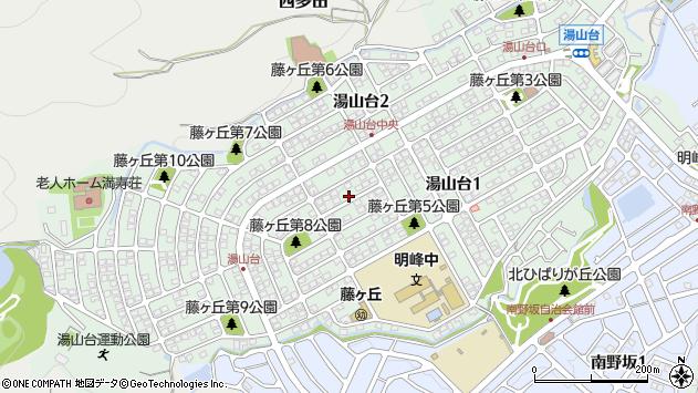 〒666-0137 兵庫県川西市湯山台の地図