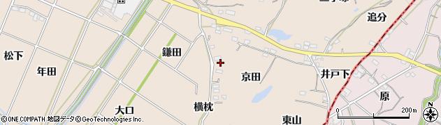 愛知県豊川市金沢町(京田)周辺の地図