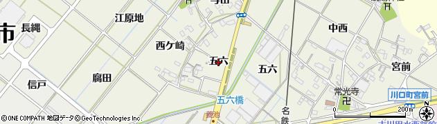 愛知県西尾市深池町(五六)周辺の地図