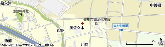愛知県豊川市長草町(美佐々木)周辺の地図